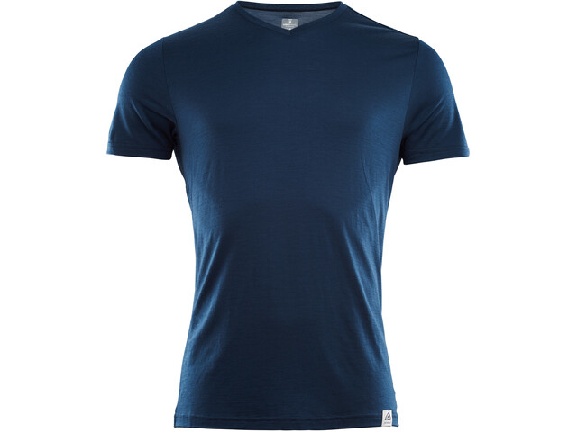 Aclima LightWool T-shirt à col en V Homme, insignia blue